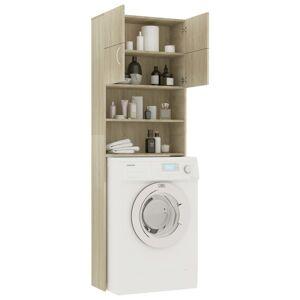 vidaXL Dulap mașina de spălat, stejar Sonoma, 64 x 25,5 x 190 cm, PAL