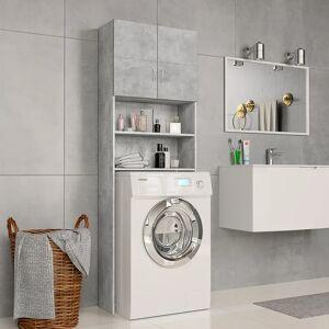 vidaXL Dulap mașină de spălat, gri beton, 64 x 25,5 x 190 cm, PAL