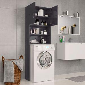 vidaXL Dulap mașina de spălat, gri extralucios, 64x25,5x190 cm, PAL