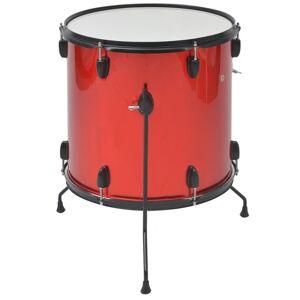vidaXL Set complet tobe pentru adulți, oțel acoperit cu pulbere, roșu