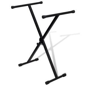 vidaXL Stativ claviatură reglabil cadru cu un braț în formă X