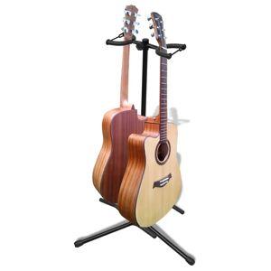 vidaXL Stativ dublu pliabil și reglabil pentru chitară