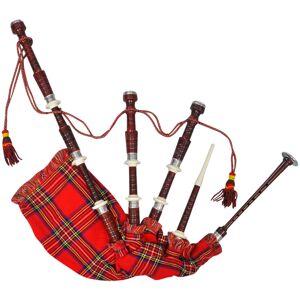 vidaXL Great Highland cimpoi scoțian din tartan Royal Steward, roșu