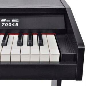 vidaXL Pian digital cu 88 de clape, cu pedale, placă melamină, negru