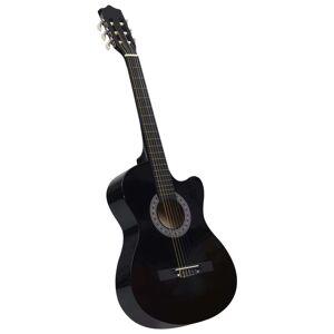 vidaXL Chitară acustică occidentală decupată, cu 6 corzi, 38