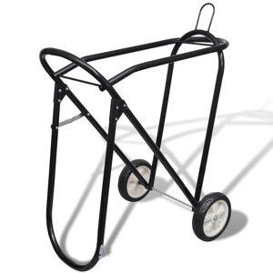 vidaXL Suport metalic de șa pliabil cu roți