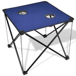 vidaXL Masă pliabilă pentru camping, albastru