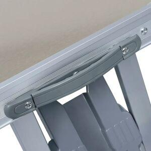 vidaXL Masă de camping pliabilă cu 4 scaune, oțel și aluminiu