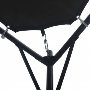 vidaXL Pavilion cort foișor copertină, antracit, 3 x 3 m, oțel