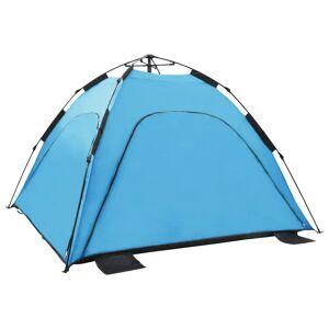 vidaXL Cort de plajă tip pop-up, albastru, 220 x 220 x 160 cm