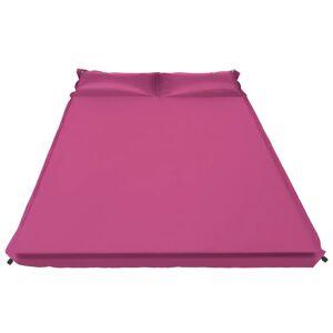 vidaXL Saltea gonflabilă cu pernă, roz, 130 x 190 cm