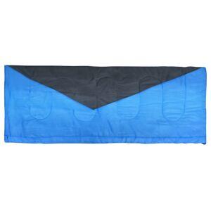 vidaXL Sac de dormit tip plic ușor, albastru, 1100 g, 10°C