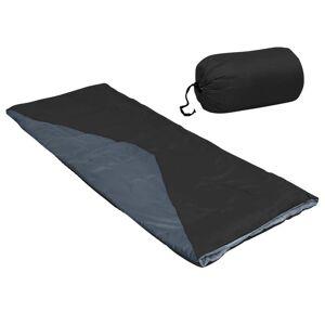 vidaXL Saci de dormit tip plic ușori, 2 buc., negru, 1100 g, 10°C
