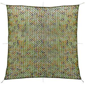 vidaXL Plasă de camuflaj cu geantă de depozitare 3x3 m
