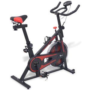 vidaXL Bicicleta fitness, centrifuga cu senzor puls, negru și rosu