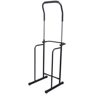 vidaXL Bară pentru tracțiuni / exerciții ajustabilă negru