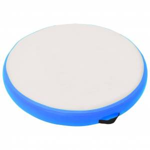 vidaXL Saltea gimnastică gonflabilă cu pompă albastru 100x100x10cm PVC