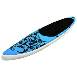 vidaXL Set de placă SUP gonflabilă, albastru, 305x76x15 cm