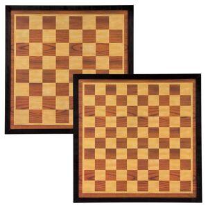 Abbey Game Tablă joc de șah și table, maro și bej, 41 x 41 cm, lemn