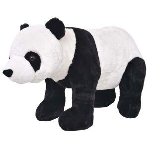 vidaXL Jucărie de pluș urs panda în picioare, negru și alb, XXL