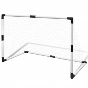 vidaXL Poartă mini-fotbal pentru copii set 2 buc. 91,5 x 48 x 61 cm