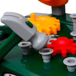 vidaXL Banc de lucru pentru copii, cu unelte, Verde + Gri