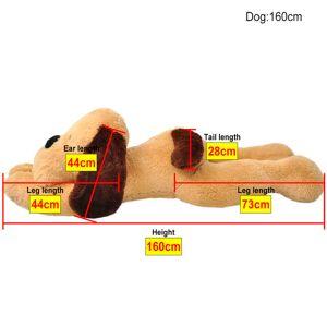 vidaXL Cățel de pluș de jucărie maro, 160 cm