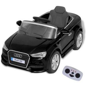 vidaXL Mașină electrică Audi A3 cu telecomandă, negru