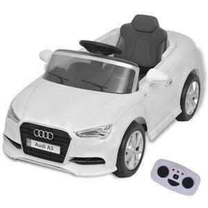 vidaXL Mașină electrică Audi A3 cu telecomandă, alb