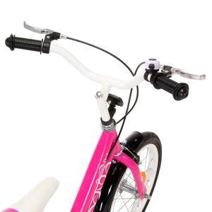 vidaXL Bicicletă pentru copii, negru și roz, 12 inci