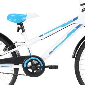vidaXL Bicicletă pentru copii, albastru și alb, 24 inci