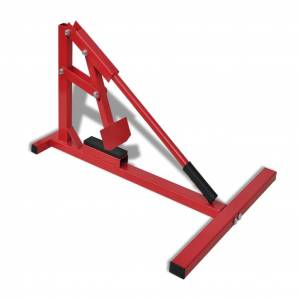 vidaXL Aparat profesional pentru dejantare anvelope moto roșu