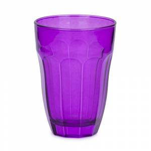 Pahar sticla, mov, 10,5 cm