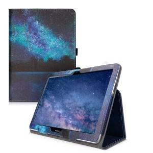 kwmobile Husa Flip pentru Huawei MediaPad T3 10 - albastru
