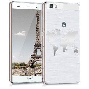 kwmobile Carcasa pentru Huawei P8 Lite - argint