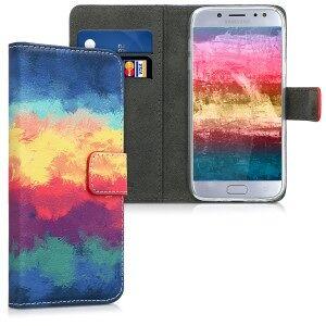 kwmobile Husa Flip pentru Samsung Galaxy J5 (2017) - albastru