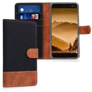 kwmobile Husa Flip pentru Nokia 6.1 - negru