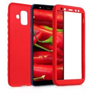 kwmobile Husa pentru Samsung Galaxy A6 (2018) - roșu-închis
