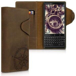 kalibri Husa Flip din piele pentru Blackberry KEYtwo - maro