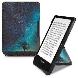 kwmobile Husa Flip pentru PocketBook Touch Lux 4 / Touch HD 3 / Basic Lux 2 - albastru