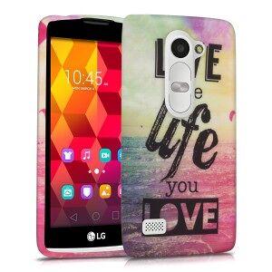 kwmobile Husa cu design live the life pentru LG Leon 3G / 4G - multe culori