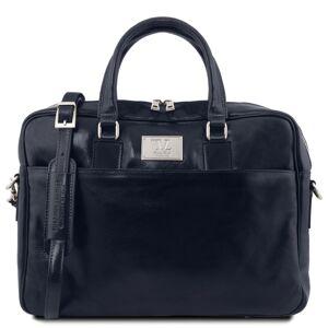 Tuscany Leather Geanta laptop barbati din piele naturala Tuscany Leather, Urbino, albastru inchis