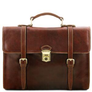 Tuscany Leather Geanta laptop din piele naturala Tuscany Leather, maro, Viareggio