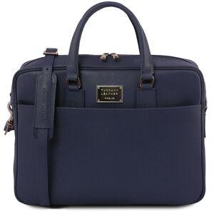 Tuscany Leather Geanta laptop dama din piele naturala Tuscany Leather, Urbino, albastru inchis