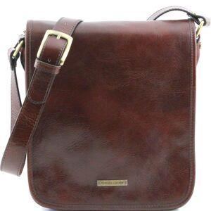 Tuscany Leather Geanta barbati din piele naturala Tuscany Leather, maro, cu doua compartimente