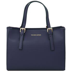 Tuscany Leather Geanta dama de mana Tuscany Leather din piele albastru inchis Aura