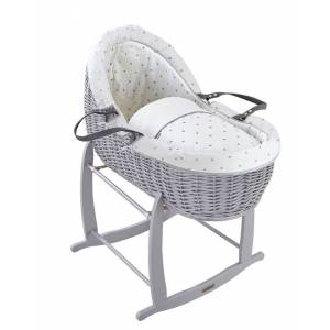 Coș pentru bebeluș Lullaby Willow Bassinet Gri Gri