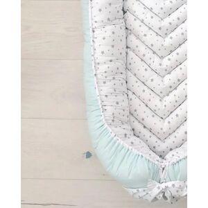 Babynest cu baza detașabilă Mint&Sky; Multicolor