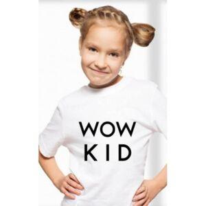Tricou WoW KID fetiță Alb 11-12 ani