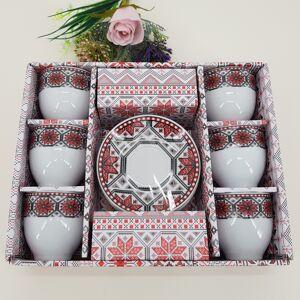 Magazin Traditional Set cafea cu motive traditionale
